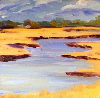"""Cape Marsh 1"" original fine art by Debra Kennedy"