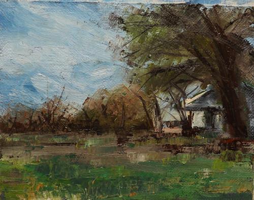 """Landscape,F27"" original fine art by Run-      Zhang Zane"