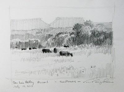 """""""Colorado Sketchbook-page 3"""" original fine art by V.... Vaughan"""