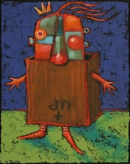 """This Side Up"" original fine art by Brenda York"