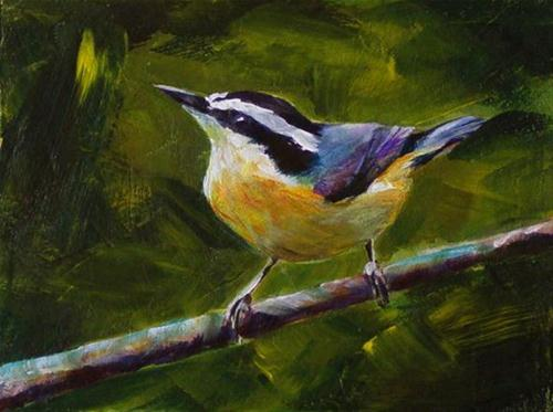 """RED BREASTED NUT HATCH"" original fine art by Brian Cameron"
