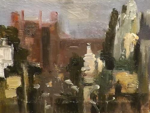 """Cityscape,M21"" original fine art by Run-      Zhang Zane"