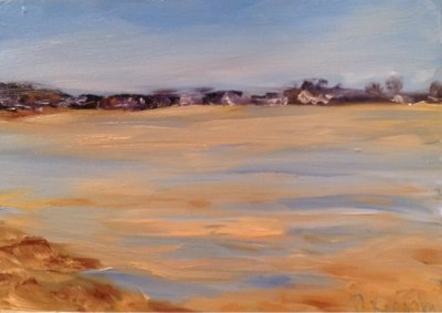 """Low Tide"" original fine art by Debra Kennedy"