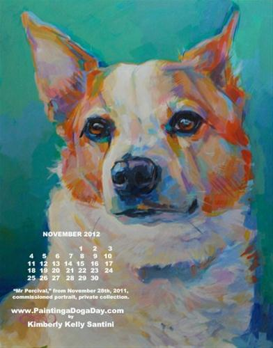 """November Desktop Calendar"" original fine art by Kimberly Santini"