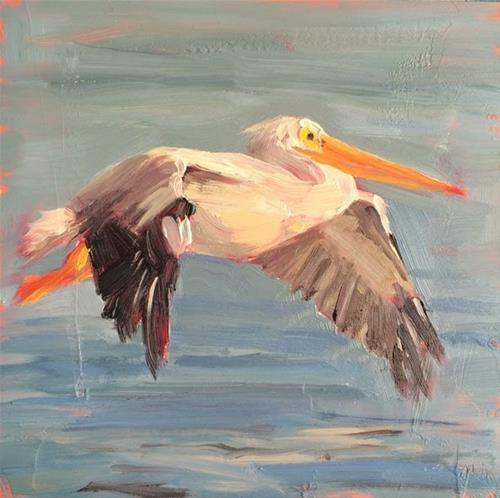 """""""Gliding Along"""" original fine art by Deborah Newman"""