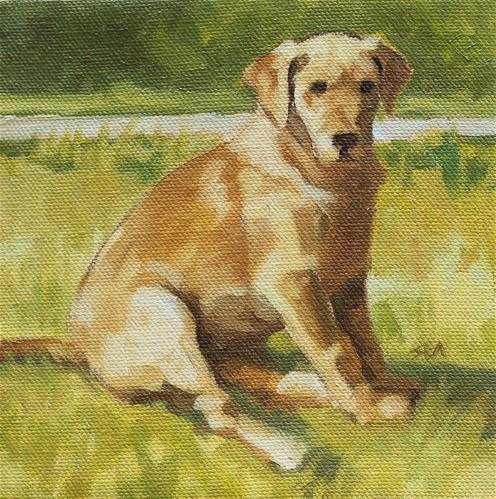 """Good Boy"" original fine art by Susan Ashmore"