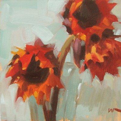 """After the Ride"" original fine art by Carol Marine"