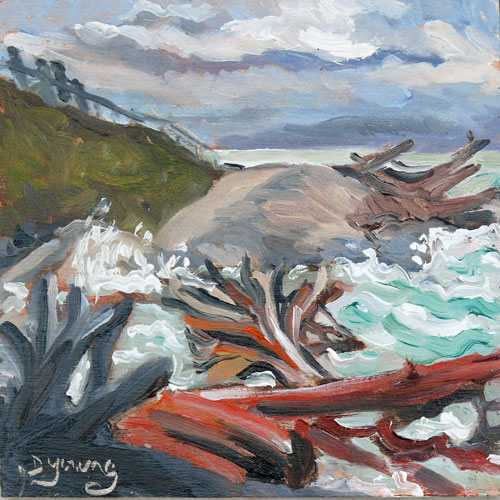 """Rough Tide"" original fine art by Darlene Young"