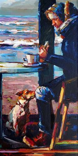 """""""Das Frühstück am Nordsee"""" original fine art by Jurij Frey"""