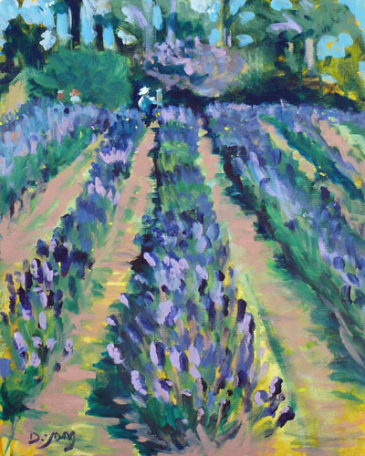 """Lavender Farm 2"" original fine art by Darlene Young"