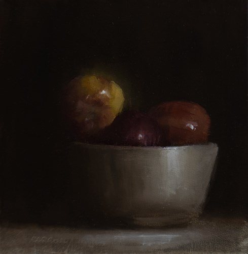 """Bowl of Apples"" original fine art by Neil Carroll"
