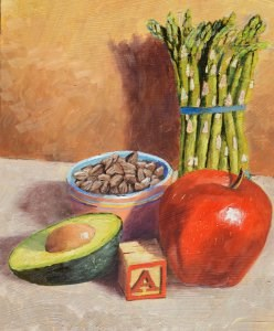 """A is for..."" original fine art by Robert Frankis"