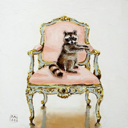 """the rococo raccoon"" original fine art by Kimberly Applegate"