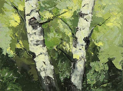 """Aspen Tree Landscape Art Painting Summer Aspen Grove by Colorado Artist Susan Fowler"" original fine art by Susan Fowler"