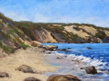 """'Quiet Cove' An Original Oil Painting by Claire Beadon Carnell 30 Paintings in 30 Days Challenge Day"" original fine art by Claire Beadon Carnell"