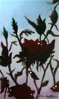 """Evening Roses"" original fine art by JoAnne Perez Robinson"