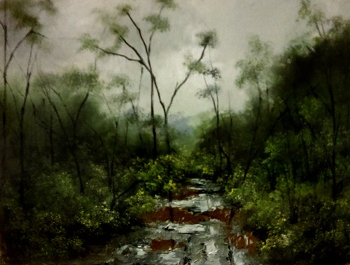 """Recent Rain"" original fine art by Bob Kimball"