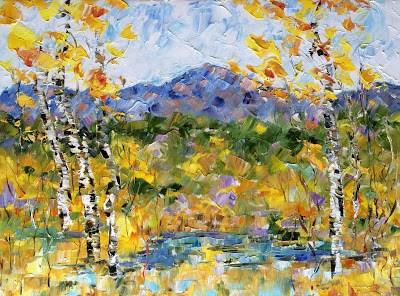 """""""Pike's Peak-Fall"""" original fine art by Judith Babcock"""