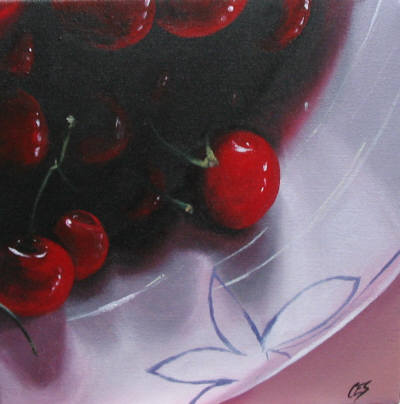 """Shari's Cherries"" original fine art by ~ces~ Christine E. S. Code"