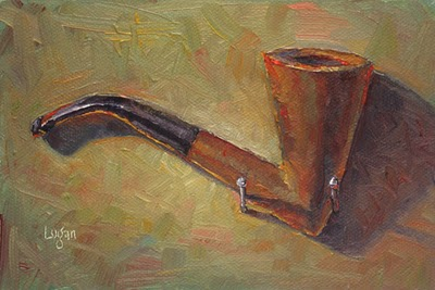 Pipe on Nails original fine art by Raymond Logan
