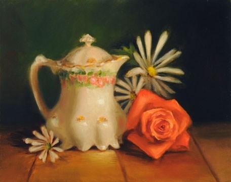 """Orange Blossom #804"" original fine art by Dee Lessard"