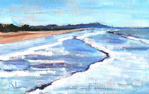 """Pacific Beach Painting"" original fine art by Kevin Inman"