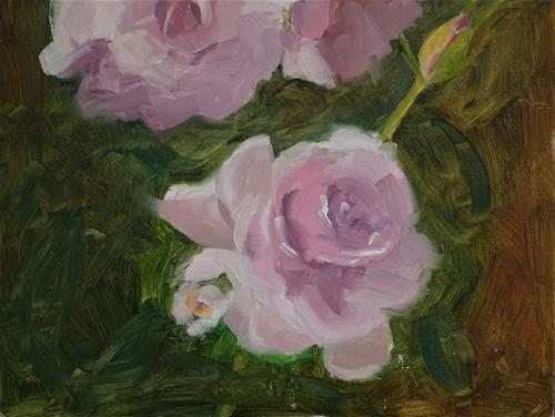 """Roses at Hudson Gardens"" original fine art by Catherine Van Berg"