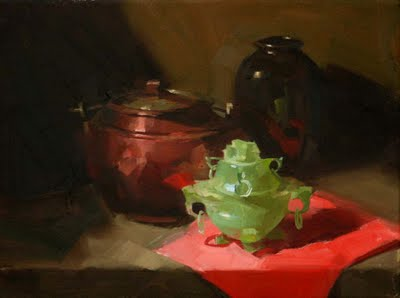 """Copper and Jade"" original fine art by Qiang Huang"