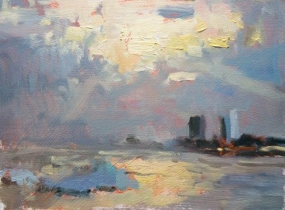 """Evening Sun"" original fine art by Randall Cogburn"
