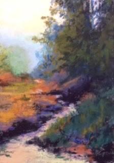 """Forest Stream"" original fine art by Marti Walker"