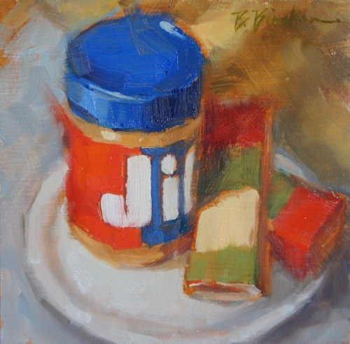"""Peanut Butter Crackers"" original fine art by Bruce Bingham"