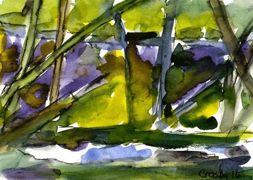 """Road Through Trees"" original fine art by Donna Crosby"