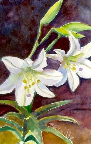 """Easter Lilies 2015"" original fine art by Reveille Kennedy"