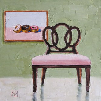 """three ring delight"" original fine art by Kimberly Applegate"