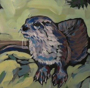 """Webfoot"" original fine art by Kat Corrigan"