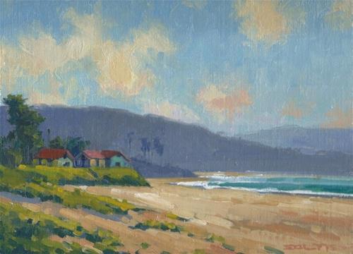 """""""Cayuco Beach"""" original fine art by J. Thomas soltesz"""