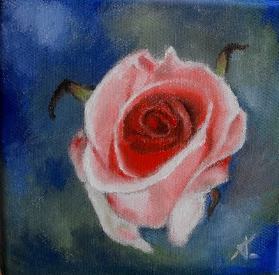 """The rose"" original fine art by Konstantia Karletsa"
