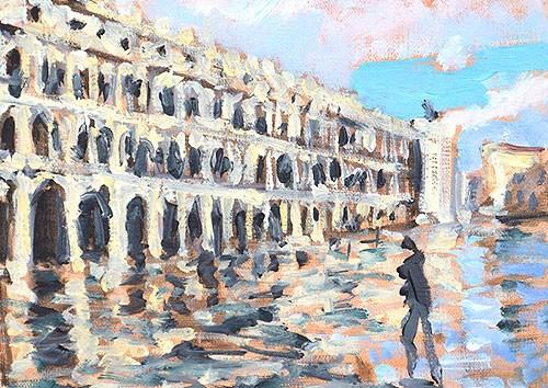 """Piazza San Marco, Venice"" original fine art by Kevin Inman"