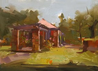 """Fort Worth Botanical Garden"" original fine art by Qiang Huang"