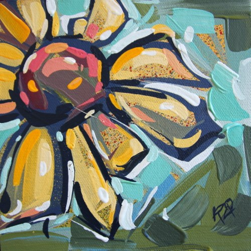 """Flower Abstraction 186"" original fine art by Roger Akesson"