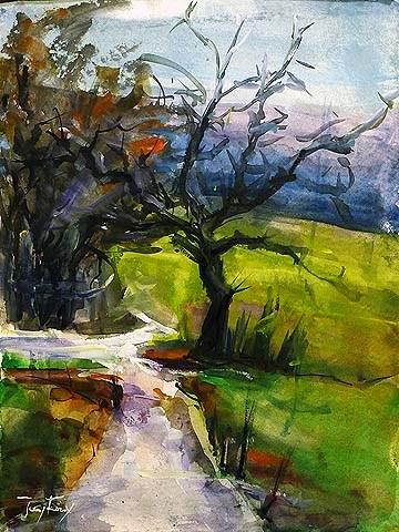 """""""Herbsttag"""" original fine art by Jurij Frey"""