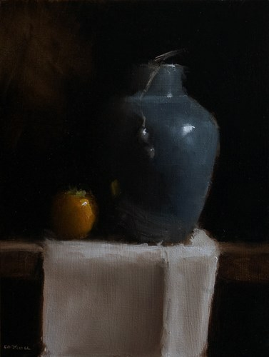 """Vase with Persimmon"" original fine art by Neil Carroll"