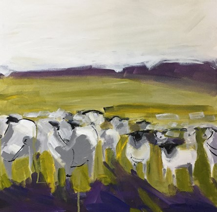 """Abstract Sheep"" original fine art by Pamela Munger"