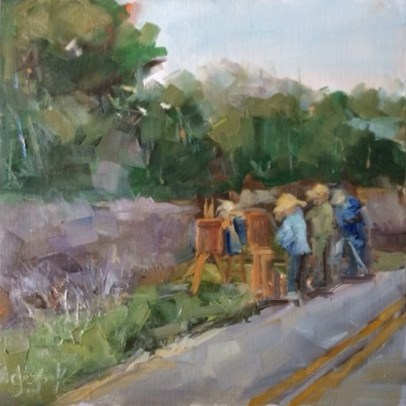 """Plein Air Painting"" original fine art by Carol Josefiak"
