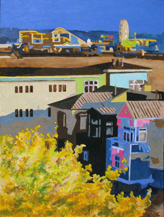 """Santa Monica"" original fine art by Nan Johnson"