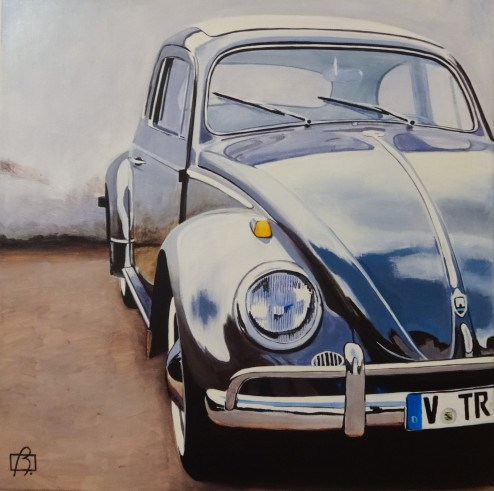 """VW Bug"" original fine art by Andre Beaulieu"