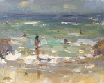 """Seascape Plein air Winds and Water"" original fine art by Roos Schuring"
