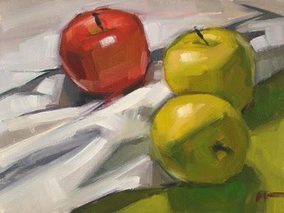 """Tumbled"" original fine art by Carol Marine"