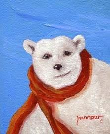 """No School Again and the Polar Bears are Happy"" original fine art by Sue Furrow"