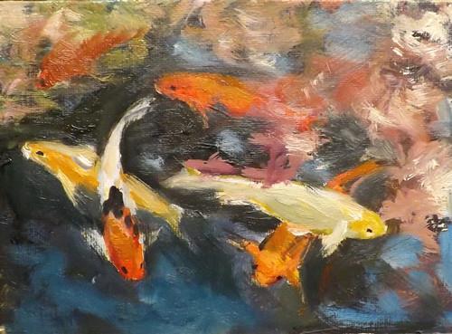 """""""FISH ,A5"""" original fine art by Run-      Zhang Zane"""